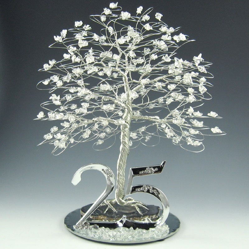 25th Anniversary Tree Cake Topper Or Centerpiece By Byapryl