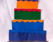 Felt Cake Puzzle Playset, Eleven (11) Pieces in the Set