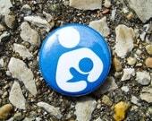 Breastfeeding Symbol Pinback Button, 1 Inch