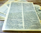 Beeswax Paper -- One Vintage Dictionary Page Hand-Dipped in Beeswax