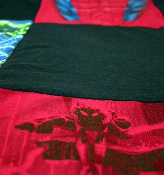 Spiderman T-Shirt Quilt, Sized for a Twin or Full-Sized Bed