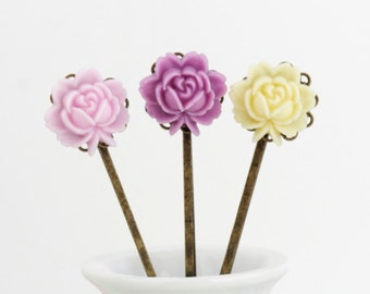 Flower Hair Pins, Bobby Pins, Flowergirl, Gift  For Girl, Floral Accessories, Gift For Woman, Mothers Day Gift