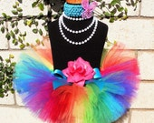 Baby Tutu Skirt - Dance Tutu - 1st Birthday Girl Tutu - Imagine- Rainbow Birthday Tutu - Sewn Infant Toddler Tutu - up to 24 mo - Photo Prop
