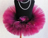 Valentine Tutu - Sewn Burgundy Girls Tutu - Ready To Ship - Sweet Cranberry - 8'' length - sizes Newborn to 5T