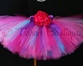 Girls Tutu - Hot Pink Purple Blue Tutu - Boysenberry Tutu - Custom Sewn Tutu - length up to 12'' - sizes Newborn to 5T