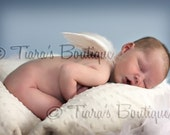 Newborn Photo Prop, IMPERFECT Infant Feather Angel Wings Baby Shower Gift Keepsake
