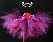 Girls Tutu - Birthday Tutu - Pink Purple Tutu - Sewn Tutu - Plumberry Pixie - Custom11'' Pixie Tutu - size Newborn up to 5T - Photo Prop