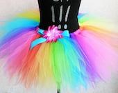 Teen Tutu Adult Tutu - Custom SEWN tutu - Brilliant Rainbow Pixie Tutu - length up to 20'' - up to 42'' waist