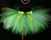 "St. Patrick's Day Tutu - Green Tutu - Birthday Tutu - Erin Go Bragh - Shaylee - Custom 13"" Sewn Pixie Tutu - Shamrock Tutu - sizes up to 5T"