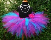 Girls Tutu Skirt, Dance Tutu, Birthday Tutu, Pink Purple Blue Tutu, Berry Twist, Custom Sewn Pixie Tutu