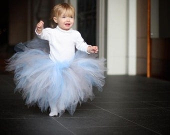Snowflakes and Icicles, a frost pixie - 15'' Sewn Pixie Tutu - sizes Newborn up to 5T - MADE-TO-Order