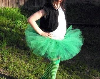 Green Irish Tutu for St. Patrick's Day - Little Lass - Custom SEWN Tutu - up to 8'' long - sizes Newborn to 5T
