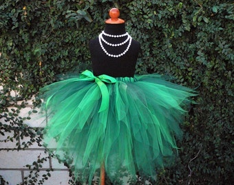 Pixielicious - The Ultimate Pixie Tutu - Custom Sewn 3 Tiered Pixie Tutu - Makes a perfect Forest Fairy, Elf, or Woodland Pixie tutu - Also great for St. Patrick's Day