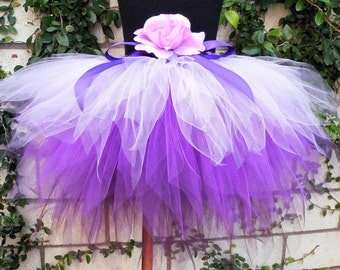 Purple Tutu, Purplicious, Custom Sewn 3 Tiered Pixie Tutu, 3 shades of lavender and purple, Girls Birthday Tutu, made-to-order