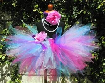 Birthday Tutu, Pink Purple Blue Tutu, Girls Tutu, Baby Tutu, Birthday Tutu, BERRY BURST, 11'' Pixie Tutu, Photo Prop Tutu, Tutu for Girls