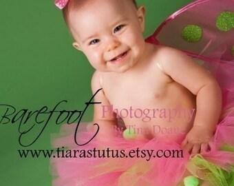 """Pink Tutu for Girls - Baby Tutu - Ladybug Tutu & Wings Set - Infant Toddler Ladybug Wings and 8"""" Tutu - Babybug - Photo Prop Tutu Costume"""