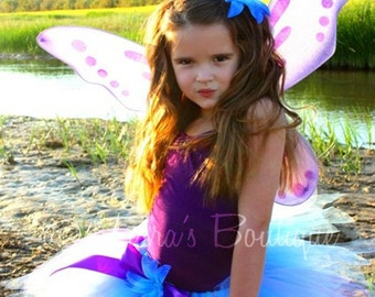 Birthday Tutu - Purple Blue Tutu - Blue Fairy - Custom Sewn 11'' Pixie Tutu - Halloween Tutu - TUTU ONLY