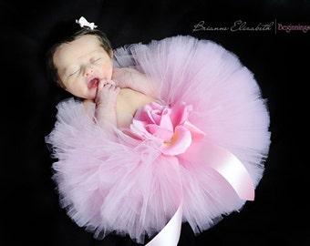 """Baby Tutu - Design Your Own Baby Tutu - Newborn Tutu - 6"""" Tutu and Headband Set - Photo Prop - First Photos"""