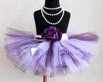 "Plum - Custom Sewn 8"" Tutu - sizes Newborn to 5T - Kingdom of the Sweets Collection by Tiara's Boutique"