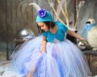 "Design Your Own Long Tutu - Custom Sewn Tutu - Up to 20"" - up to size 5T - Design your own Winter Fairy, Snow Princess, or Christmas Tutu"