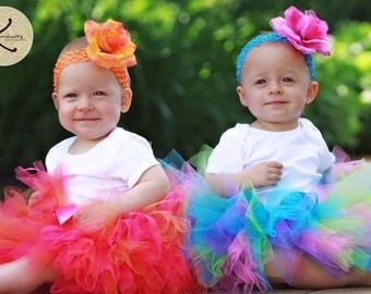 Girls Tutu, Birthday Tutu, Design Your Own Custom 8'', sizes newborn up to 5T