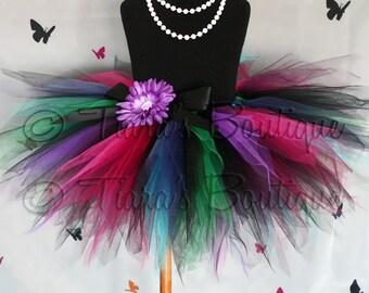 Black Pink Green Blue Purple Tutu, Girls Tutu Skirt, Birthday Tutu, Gemstone Beauty, Sewn Pixie Tutu, Tween, Girls, Baby, Newborn Photo Prop