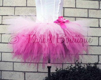 "Design Your Own 3 Tiered Pixie Tutu - For Teens and Adults - Custom SEWN Tutu - up to 20"" long Ombre Tutu"