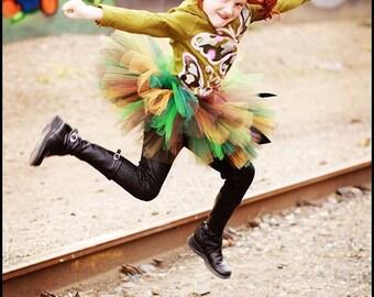 "Mossy Oak Camo Tutu - Custom Sewn 10"" Tutu  - Tiara's Boutique Original - sizes up to 5T - For Fall Birthdays, Halloween and Military Events"