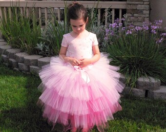 Center Stage, a prima ballerina tutu - length up to 20 inches - Custom SEWN 5 Tiered Tutu