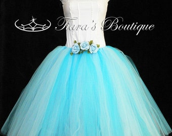 "Design Your Own Long Tutu - Adult pre-teen or Teen Tutu - Custom Sewn Tutu - up to 36"" long - For Weddings, Halloween"