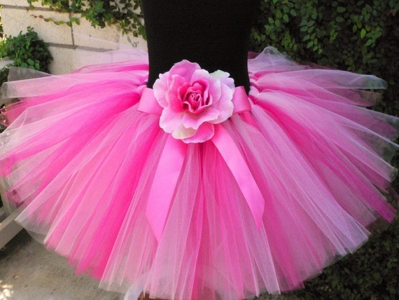 Girls Pink Tutu - Strawberry Dreams - Custom Sewn Tutu - sizes Newborn up to 5T - Tutus for babies, toddlers, and children