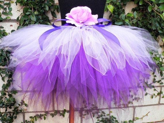 Purple Tutu, Purplicious, Custom Sewn 3 Tiered Pixie Tutu, 3 shades of lavender and purple, Girls Birthday Tutu, made-to-order