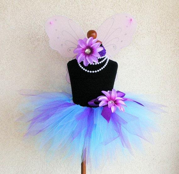 Abby Cadabby Inspired Tutu - Custom sewn 11'' pixie tutu - Perfect for Birthdays, Recitals, and Halloween - TUTU ONLY
