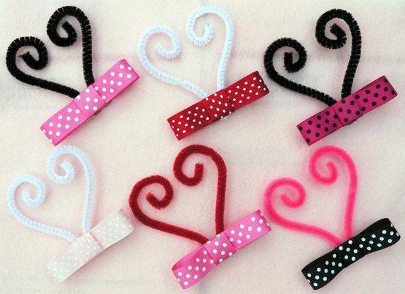 Design Your Own Custom LUVBUG Antenna Headband - Valentine's Themed Ladybug Antenna and Headband Made To Match Your Custom Luvbug Tutu