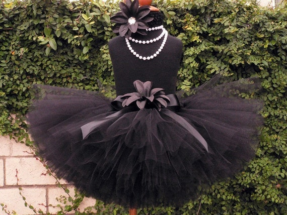 Black Custom Tutu - TWILIGHT - 10'' Sewn Black Tutu with Silver Sparkles - Available in sizes Newborn up to 5T