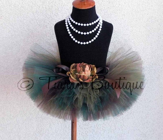 """Woodland Camo Tutu - Custom Sewn 8"""" Tutu - sizes up to 5T - Perfect for Portraits, 1st Birthdays, and Military Homecomings"""