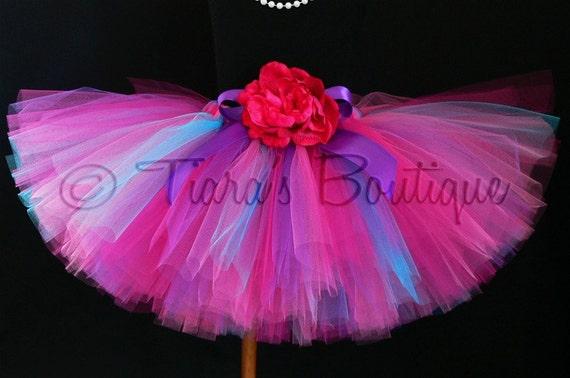 Girls Tutu - Hot Pink Purple Blue Tutu - Boysenberry Tutu - Custom Sewn Tutu - length up to 12'' - sizes Newborn to 5T