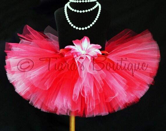 Pink Red Valentine's Day Tutu, Custom Sewn Tutu, Heart's Desire, Girls Tutu, Baby Tutu, Tween Tutu, Perfect for Photo Shoots and Birthday