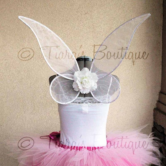 TINKERBELL - Large Handmade Fairy Wings - very sturdy to last for many years of play - wings only, tutu not included