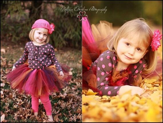 Thanksgiving Tutu - Autumn Enchantment - Handmade Custom Sewn Tutu - up to 10'' long - sizes newborn up to 5T - Fall Tutu