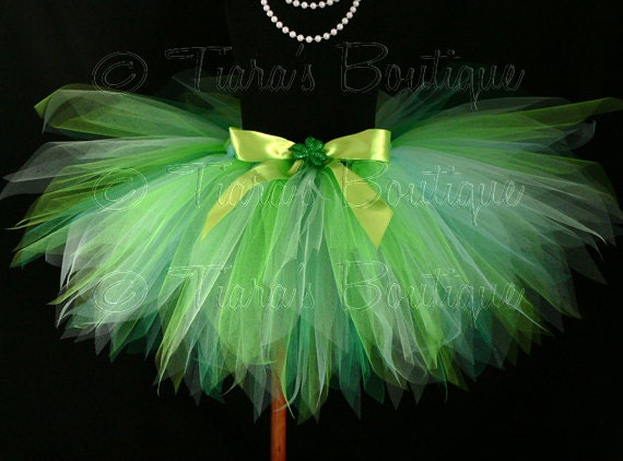 "St. Patrick's Day Tutu - Green Tutu - Birthday Tutu - Erin Go Bragh - Shaylee - Custom 13"" Sewn Pixie Tutu - Shamrock Tutu - sizes up to 5T"