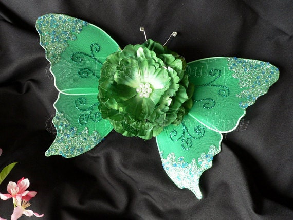 Baby Butterfly Wings - Green Fairy Wings - St Patricks Day Wings - Infant Wings - Baby Photo Prop - Wings Only