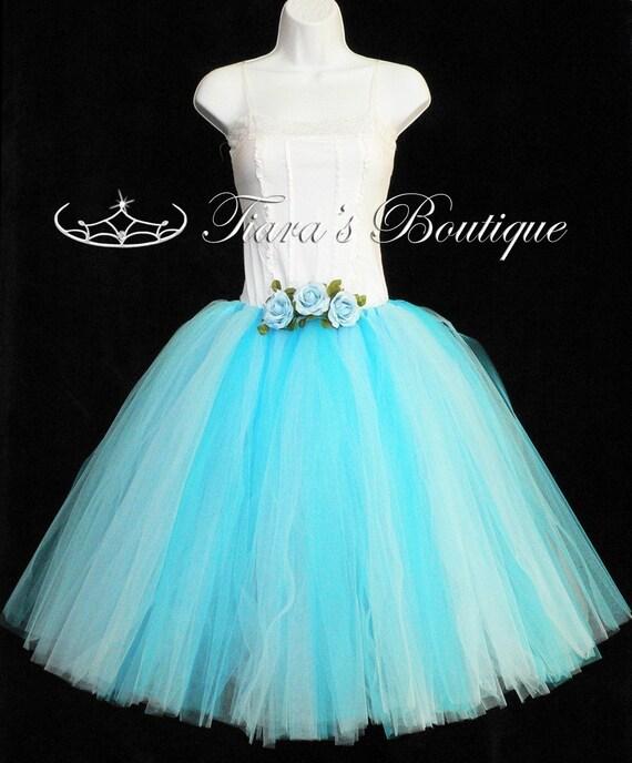"Design Your Own Long Tutu - Adult pre-teen or Teen Tutu - Custom Sewn Tutu - up to 36"" long - For Weddings, Halloween"
