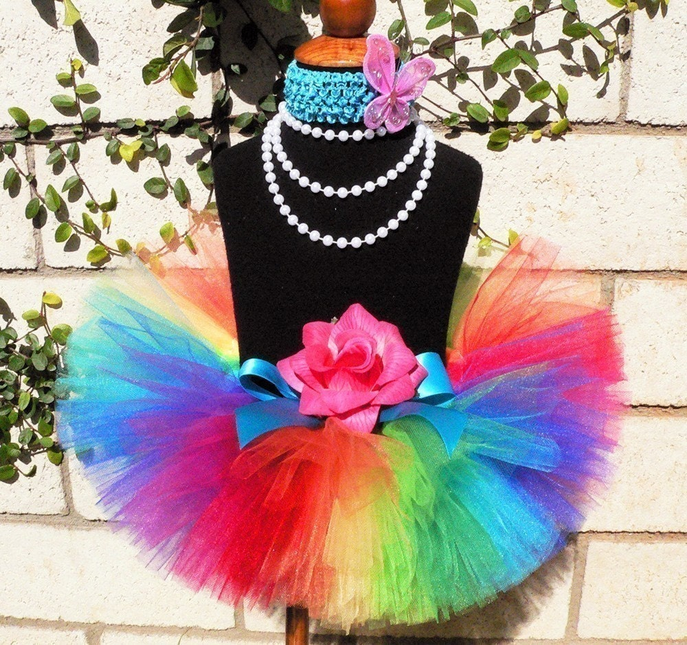 Tutus Tutu: Girls Tutu Rainbow Birthday Tutu Imagine Sewn 8