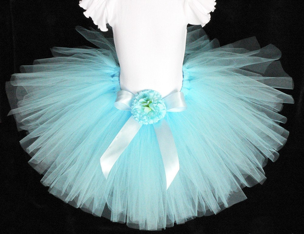 tutu birthday tutu light blue tutu custom sewn