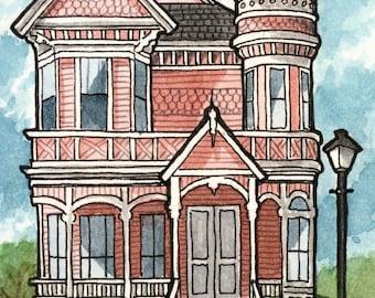 Victorian Houses - 5x7 - Three Print Set