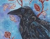Gothic Raven notecard