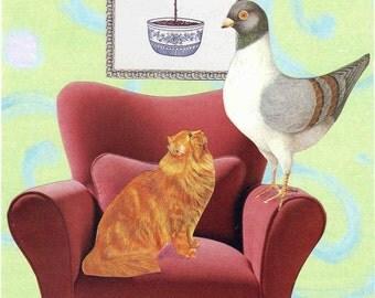 The Cat Bird Seat greeting card