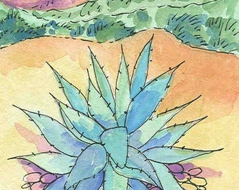 Agave blank greeting card