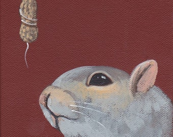 Squirrel teaser greeting card